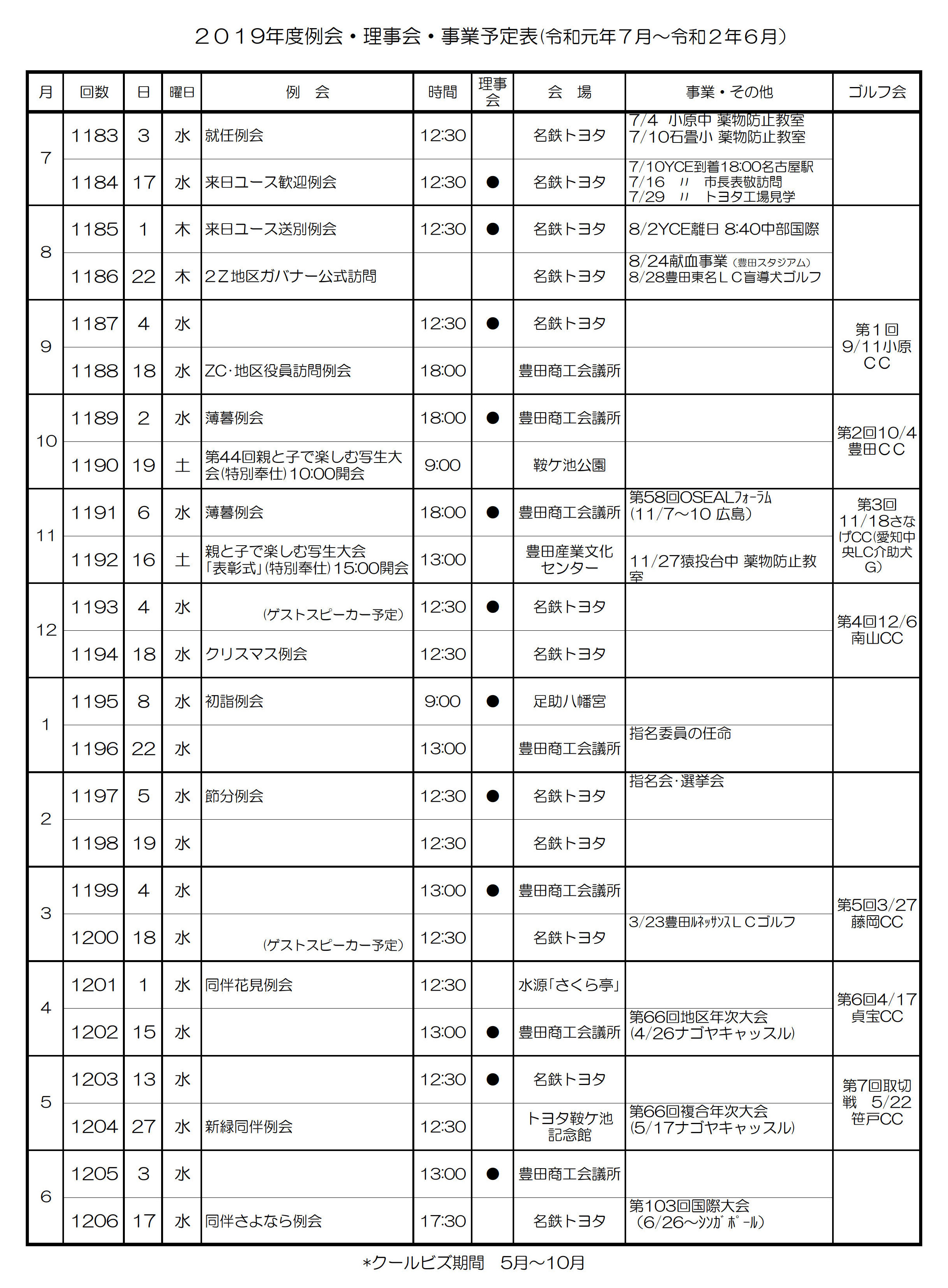 2豊田加茂LC年間予定1
